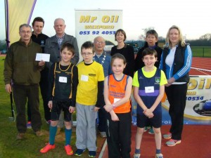 Mr Oil at launch of sponsorship with Wexford Athletics